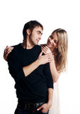 Two beautiful lovers royalty free stock photography
