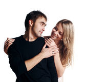 Two beautiful lovers Stock Photography