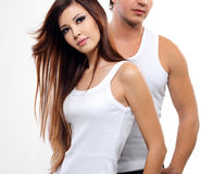 Two beautiful lovers Stock Images