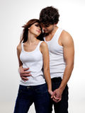 Two beautiful lovers Stock Image