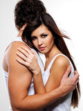 Two beautiful lovers Royalty Free Stock Photos
