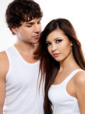 Two beautiful lovers Stock Photos