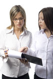 Two beautiful manager women Royalty Free Stock Photography