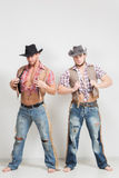 Two beautiful men cowboy. Royalty Free Stock Images