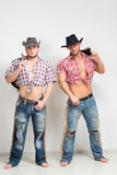 Two beautiful men cowboy. Royalty Free Stock Photo