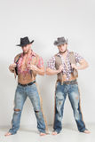 Two beautiful men cowboy. Royalty Free Stock Image