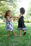 Two beautiful mixed race sisters Royalty Free Stock Photo