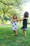 Two beautiful mixed race sisters Royalty Free Stock Photos