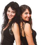 Two beautiful models Royalty Free Stock Photos