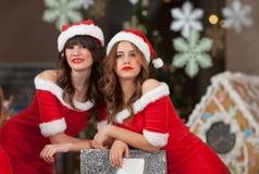 Two beautiful Santas Royalty Free Stock Photography