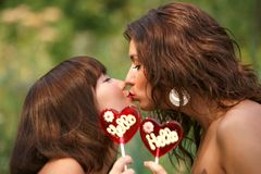 Two beautiful sexual girls Stock Photo