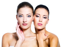 Two beautiful women Royalty Free Stock Photo