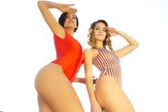 Two beautiful sexy women in bikinis Stock Photo