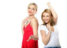 Two beautiful sexy women in summer clothes. Stock Photography