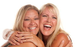 Two Beautiful Sister Laughing Royalty Free Stock Photography