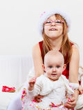 Two beautiful sisters together. Royalty Free Stock Images