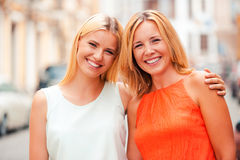 Two beautiful smiles. Royalty Free Stock Photo