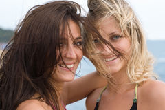 Two beautiful smiling girl Royalty Free Stock Photos