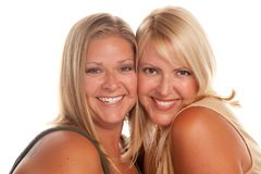 Two Beautiful Smiling Sisters Portrait Royalty Free Stock Image