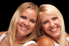 Two Beautiful Smiling Sisters Portrait Stock Images