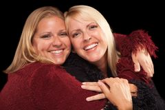 Two Beautiful Smiling Sisters Portrait Royalty Free Stock Photos