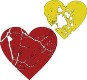 Two beautiful splash hearts. Two beautiful stylish valentines Hearts Stock Images