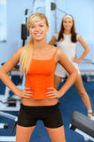 Two beautiful sportswomen Royalty Free Stock Photography