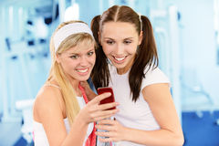 Two beautiful sportswomen Royalty Free Stock Image