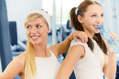 Two beautiful sportswomen Royalty Free Stock Photo