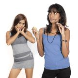 Two beautiful srilankan girls Stock Photography