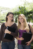 Two beautiful student Royalty Free Stock Photo