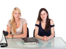 Two beautiful student girls Royalty Free Stock Image