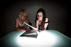 Two beautiful student girls Stock Photo