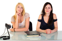 Two beautiful student girls Royalty Free Stock Photos