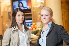 Two beautiful stylish women Royalty Free Stock Photos