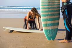 Ready for surfing Stock Photography