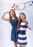 Two beautiful teen girls Stock Photography