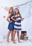 Two beautiful teen girls Stock Image