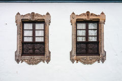 Two beautiful twin windows Royalty Free Stock Photography