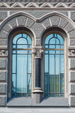 Two beautiful vintage window in historic building Royalty Free Stock Photo