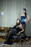Two beautiful woman Royalty Free Stock Photography