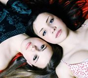 Two beautiful woman royalty free stock photos