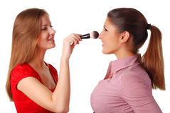 Two beautiful woman Royalty Free Stock Images
