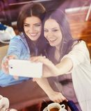 Two beautiful woman Stock Photography