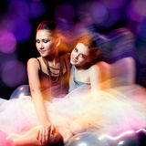 Two beautiful womans in tutu Royalty Free Stock Photo