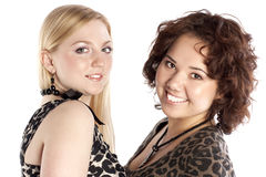 Two beautiful women Stock Photos