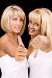 Two beautiful women Royalty Free Stock Photography