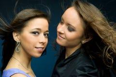 Two beautiful women Stock Photos