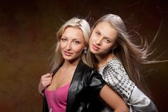 Two beautiful women Stock Images