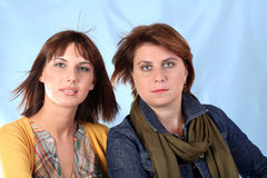 Two beautiful women Stock Image